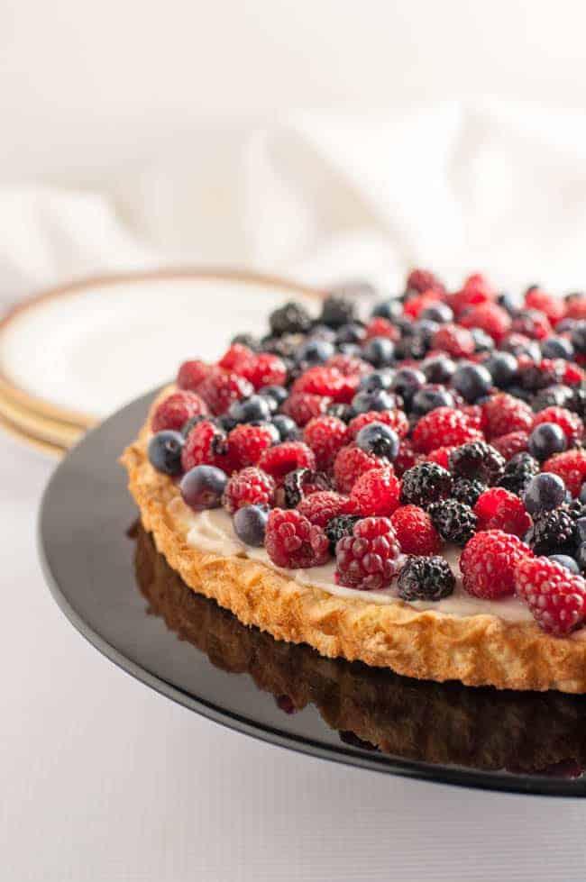Gluten-Free Fruit Flan with Ricotta |www.flavourandsavour.com