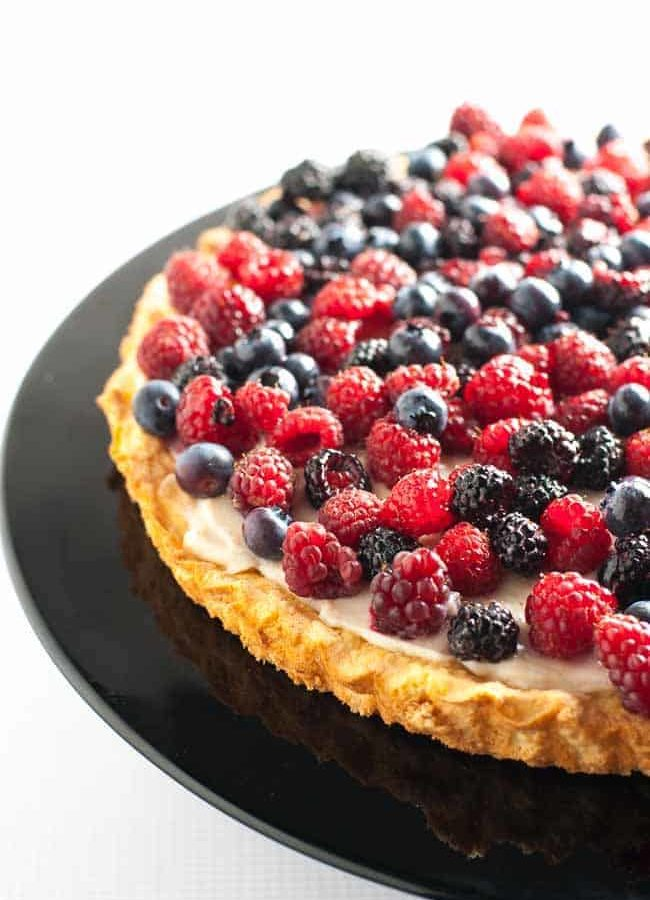 Gluten-Free Fruit Flan with Ricotta