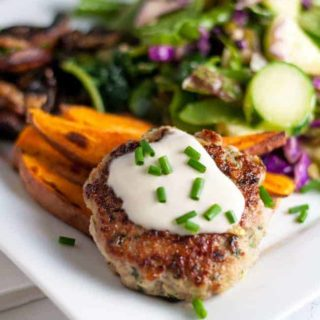 Healthy Open Face Thai Chicken Burgers