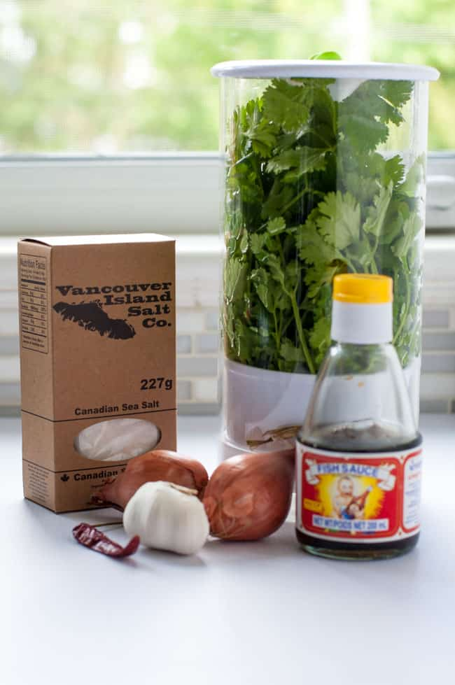 Ingredients for Healthy Open Face Thai Chicken Burgers.