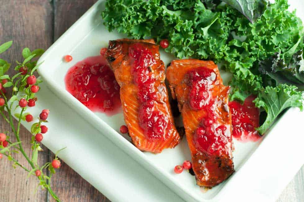 Caramelized Sockeye Salmon with Wild Berry Gastrique |www.flavourandsavour.com