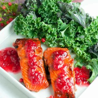 Caramelized Sockeye Salmon with Wild Berry Gastrique |www.flavourandsavour.com