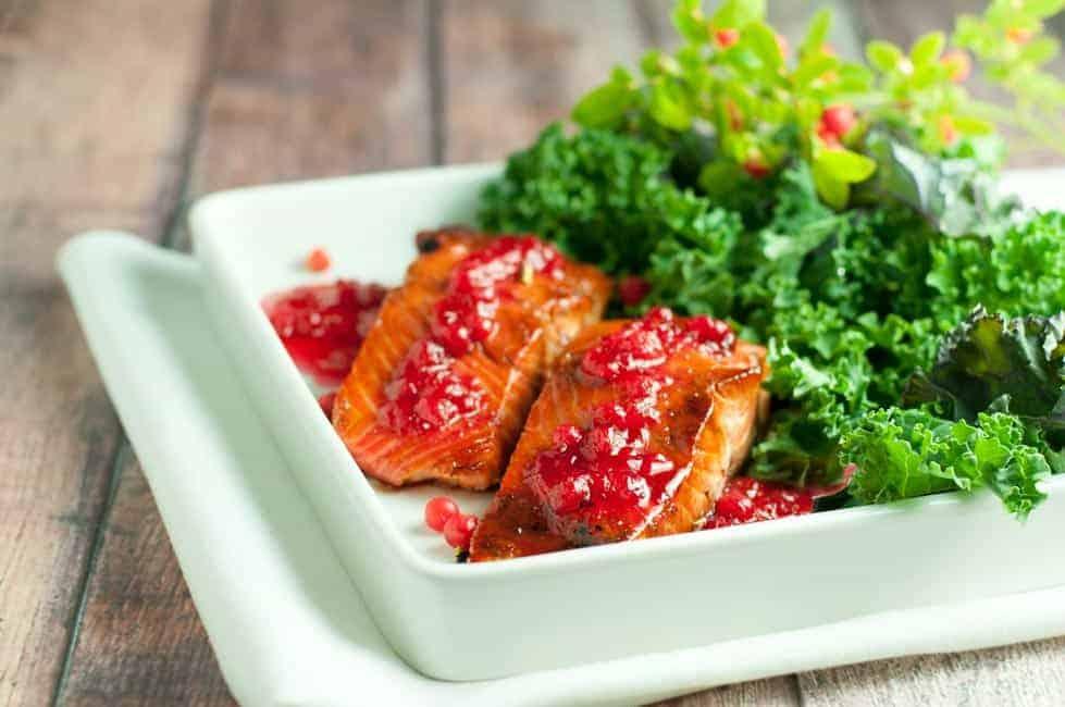 Caramelized Sockeye Salmon with Wild Berry Gastrique