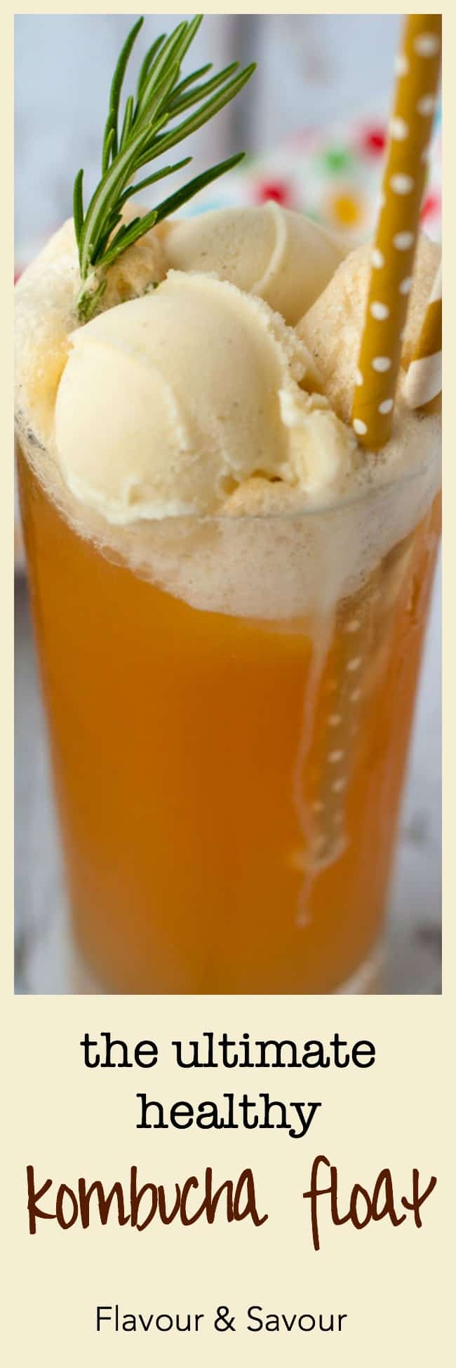 The Ultimate Healthy Kombucha Float!