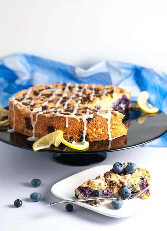 Gluten-Free Blueberry Lemon Coffee Cake