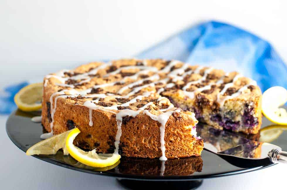 Gluten-Free Blueberry Lemon Coffee Cake - Flavour and Savour