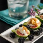 Fresh Figs with Goat Cheese and Maple Walnuts. 5-minute appetizer! |www.flavourandsavour.com
