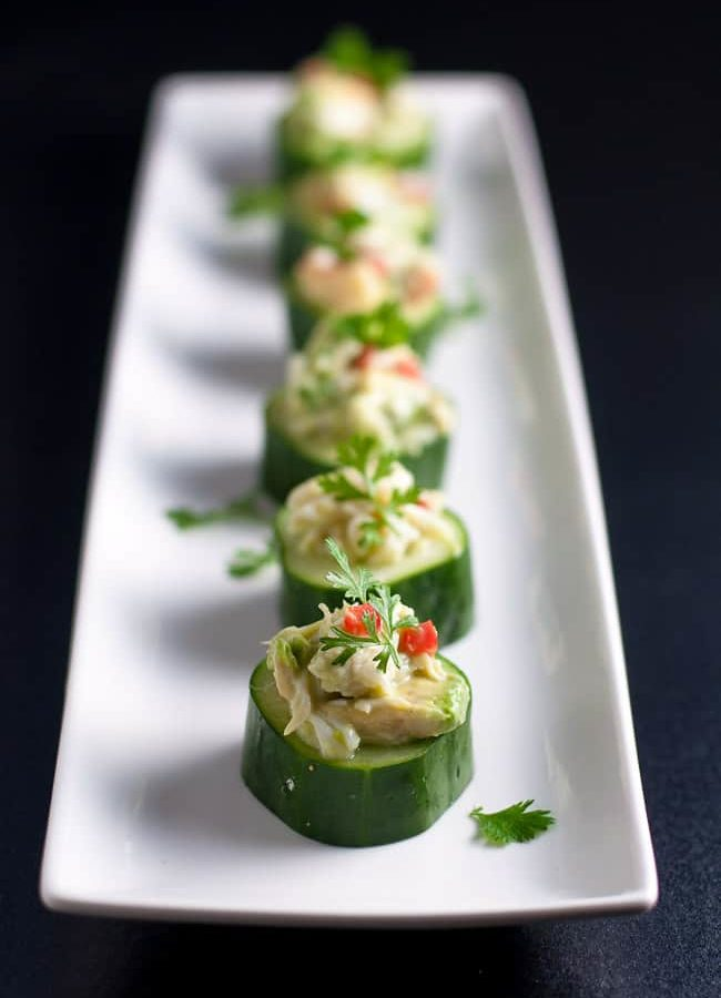 Crab-Stuffed Cucumber Cups