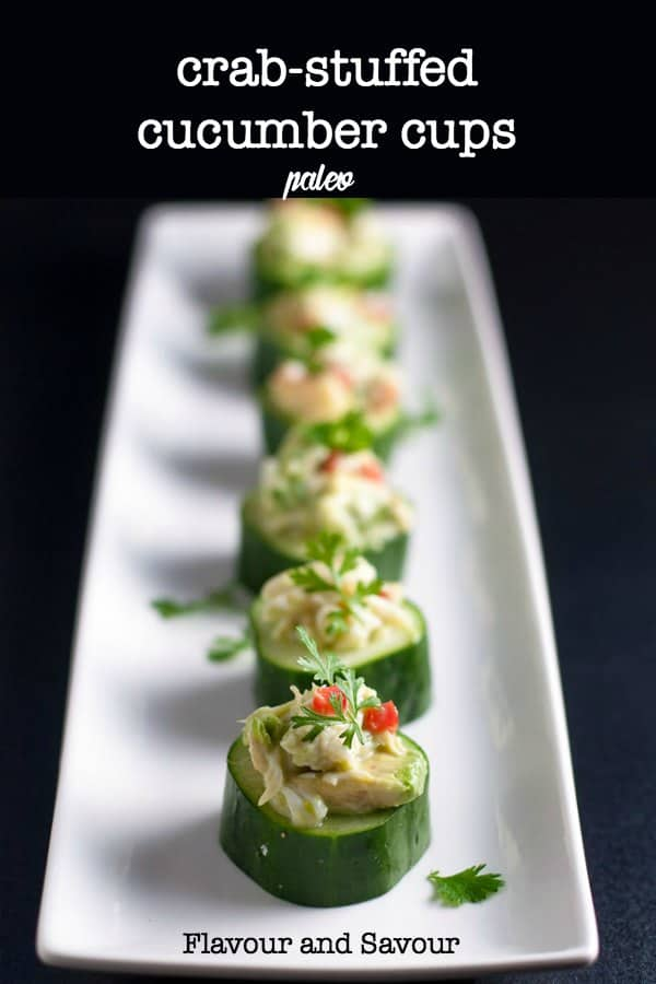 Looking for an easy seafood appetizer? Crab-stuffed Cucumber Cups make refreshing finger-food. width=