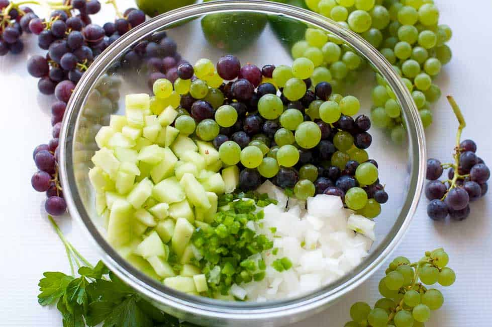 Grape Salsa with Lime and Cilantro |www.flavourandsavour.com