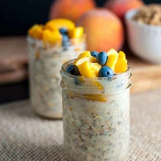 Peach and Blueberry Overnight Oats