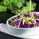 Grape, Apple and Red Cabbage Slaw |www.flavourandsavour.com