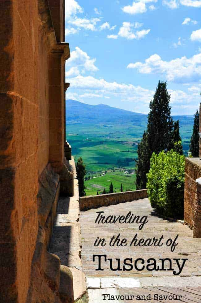 Traveling in the heart of Tuscany title