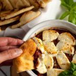 Fire-Roasted Tomato Goat Cheese Dip |www.flavourandsavour.com