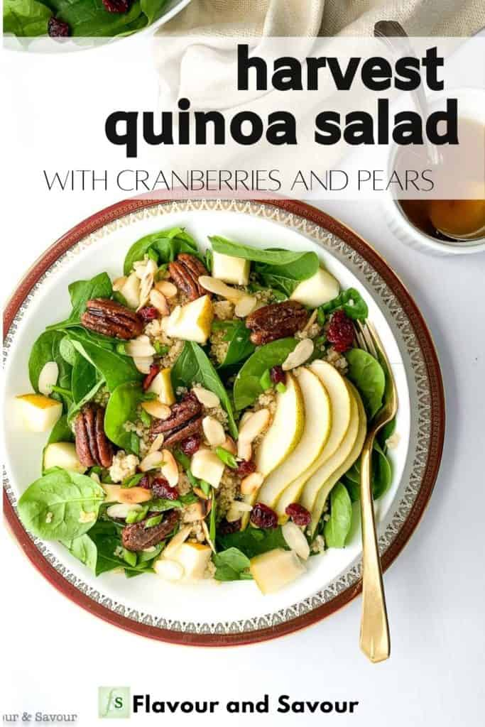 Pinterest image for Harvest Quinoa Salad