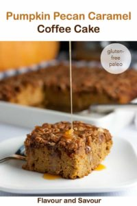 Pinterest PIn for Paleo Pumpkin Caramel Coffee Cake
