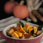 Roasted Butternut Squash with Toasted Sage and Pumpkin Seeds. This side dish of Butternut squash with sage and pepitas is an easy way to make your favourite squash sublime! Adding toasted sage leaves and pumpkin seeds heightens the buttery flavour of the squash.  www.flavourandsavour.com
