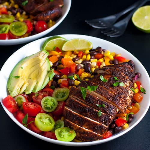 Southwestern Chicken Fajita Bowl