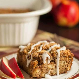 This Gluten-Free Apple Cinnamon Coffee Cake. is tender, moist and free of grains and dairy products! It's sweetened with maple syrup and coconut sugar. You'll never guess it's grain-free! |www.flavourandsavour.com