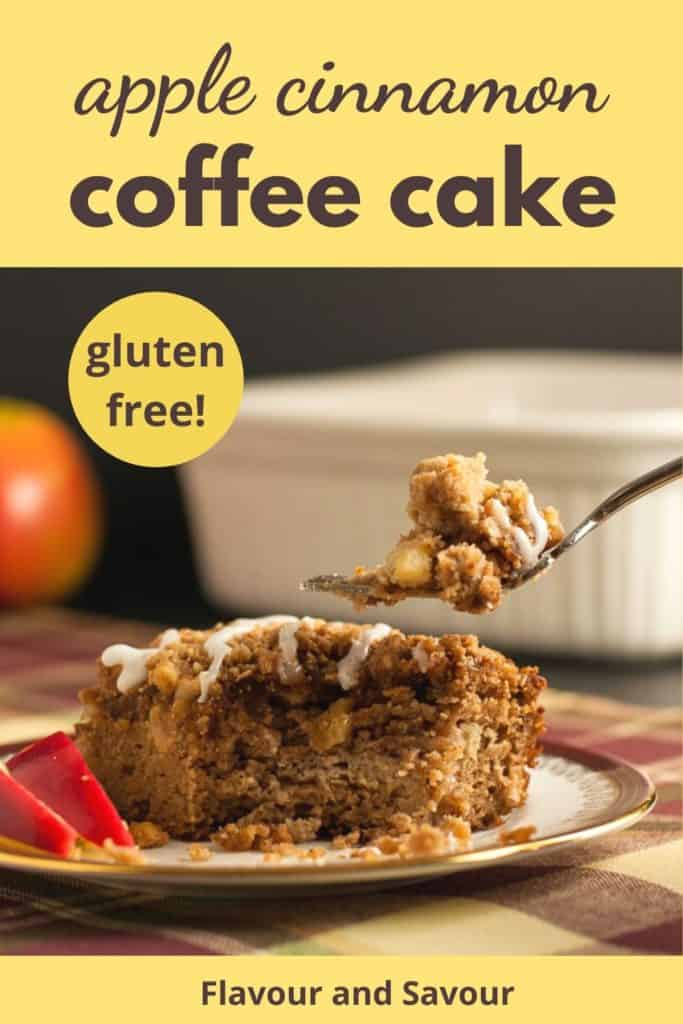 PInterest Pin for Apple Cinnamon Coffee Cake gluten-free with text