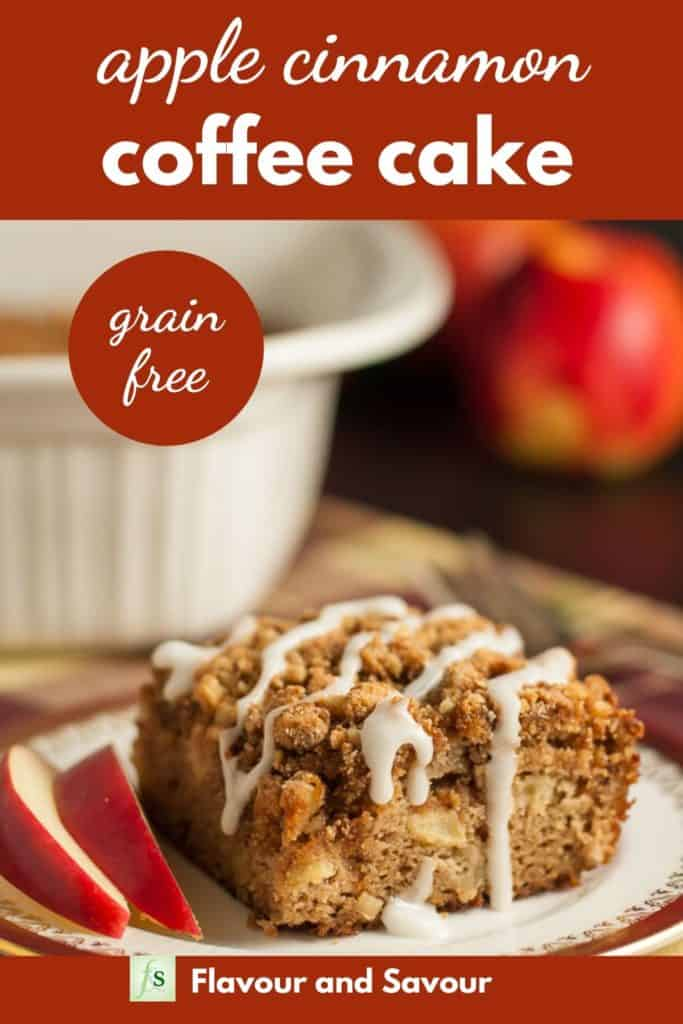 Pinterest Pin for Gluten-free Apple Cinnamon Coffee Cake with text
