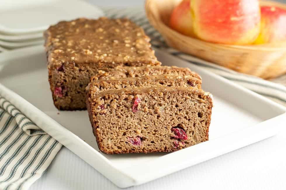 Grain-Free Apple Cranberry Bread sliced
