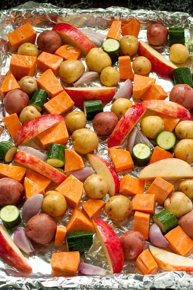 Vegetables for Sheet Pan Chicken dinner