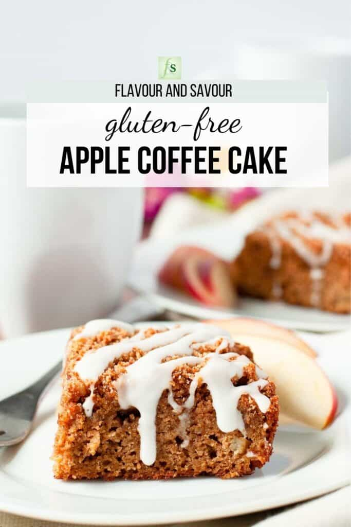 image and text for gluten-free apple cinnamon coffee cake