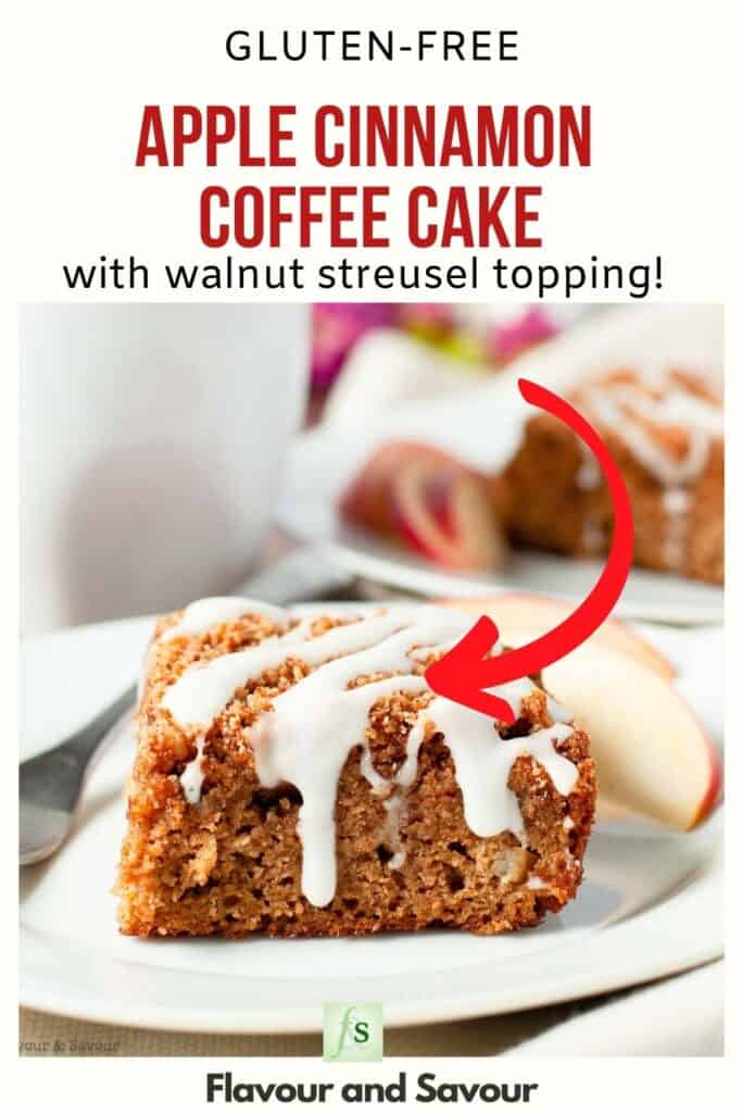 text and image for gluten free apple cinnamon coffee cake