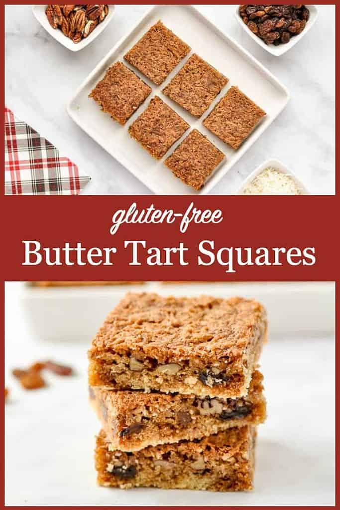 Pinterest Pin for Butter Tart Squares