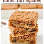 Gluten-free Butter Tart Squares Pinterest Pin 2
