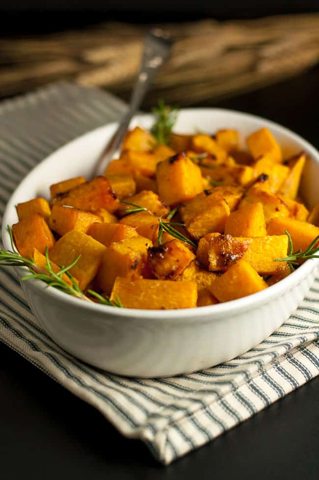 If you like Butternut Squash with fresh rosemary, you'll love this Maple Dijon Roasted Butternut Squash. 's a little sweet, a little spicy and this crispy Maple Dijon Roasted Butternut Squash is an ideal side dish for a fall or winter dinner. |www.flavourandsavour.com