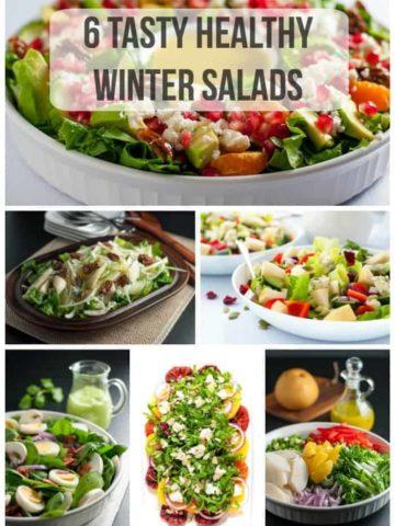 6 Tasty Healthy Winter Salads pin