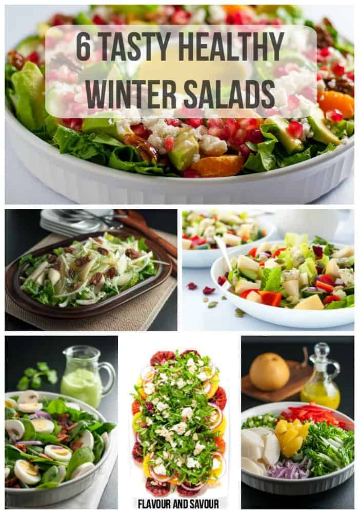 6 Tasty Healthy Winter Salads pin