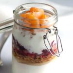 Spice up your breakfast with this Cranberry Orange Breakfast Parfait. A healthy parfait, made with Greek yogurt, granola, cranberry sauce and fresh oranges. |www.flavourandsavour.com
