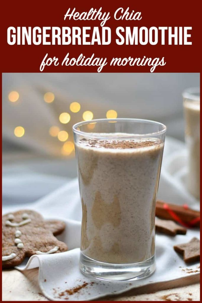 PInterest PIn for Gingerbread Smoothie