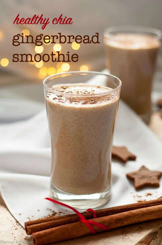 Healthy Chia Gingerbread Smoothie