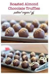 Roasted Almond Chocolate Truffles title