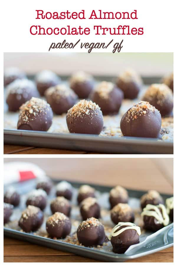 Roasted Almond Chocolate Truffles title
