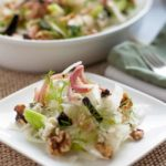 Fennel-Celery Salad with Figs and Blue Cheese. A delicate salad of fennel and celery with surprising bursts of flavour from shallots, figs, blue cheese and walnuts. Will make this one again and again! |www.flavourandsavour.com