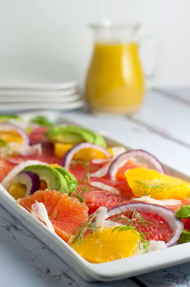 Grapefruit-Orange Avocado Salad with Fennel.