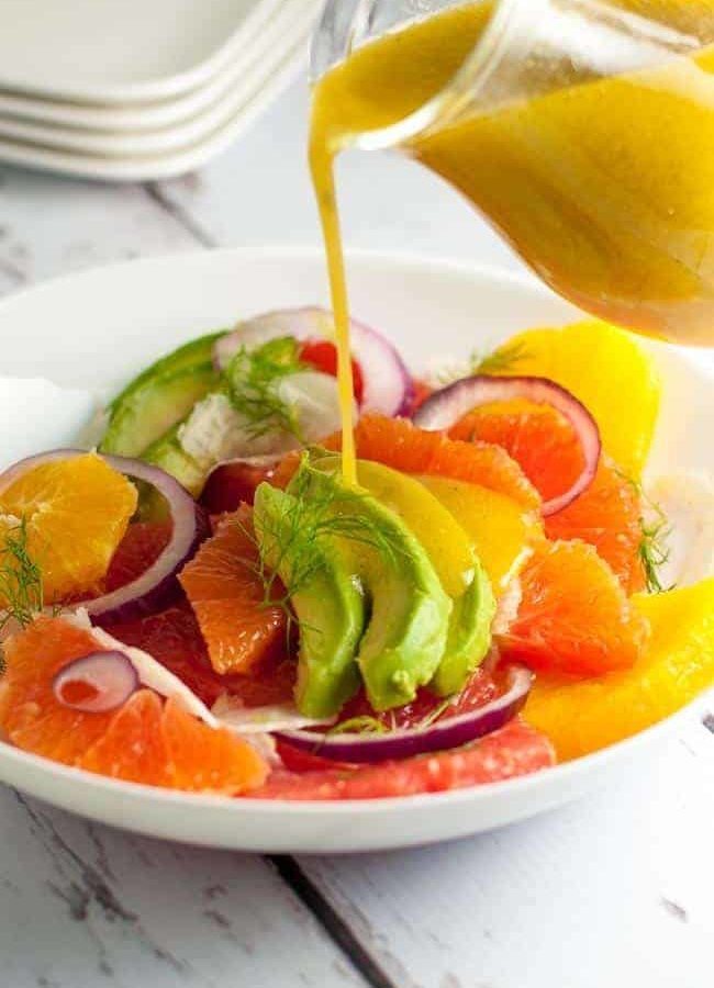 Grapefruit-Orange Avocado Salad with Fennel