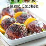 Gluten-Free Hoisin Orange Glazed Chicken thighs title