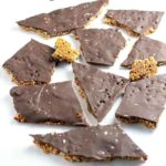 Broken pieces of Chocolate Quinoa Bark with Chia and Superfoods