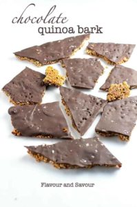 Chocolate Quinoa Bark with Chia and Superfoods