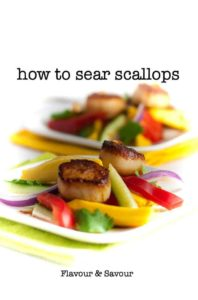 How to Sear Scallops and make seared scallops with mango salad