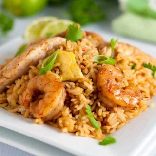 Easy Indonesian Fried Rice--Nasi Goreng. A quick and healthy meal. Add shrimp, chicken or both. Ready in 20 minutes!