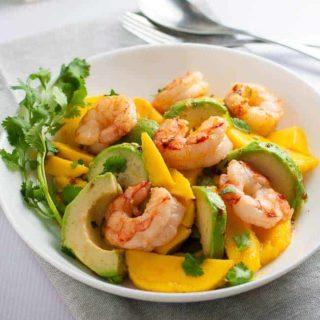 Prawn Mango Avocado Salad with Lemon-Lime Dressing
