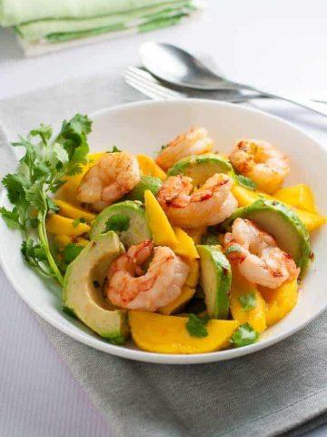 Prawn Mango Avocado Salad with Lemon Lime Vinaigrette