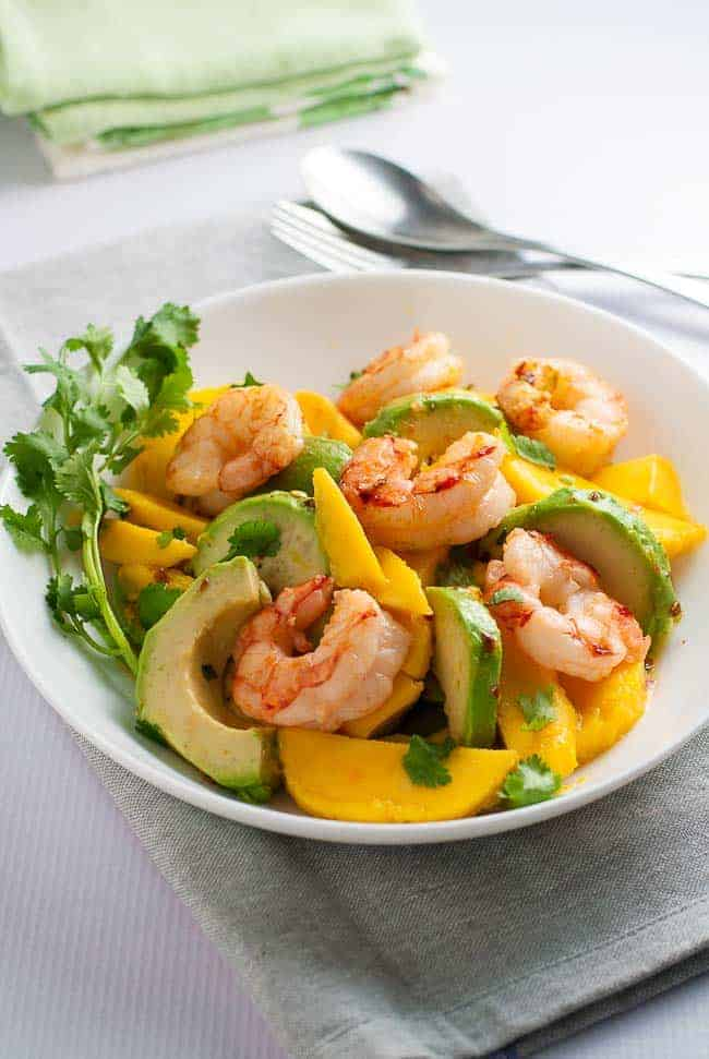 Mango Salad With Black Beans, Avocado, Mint, And Chile ...